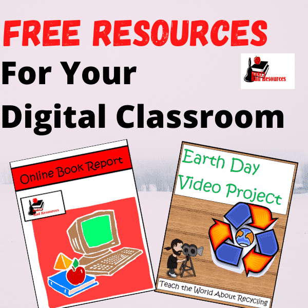Free resources for your Google Classroom - online book report and Earth Day video project - free downloads