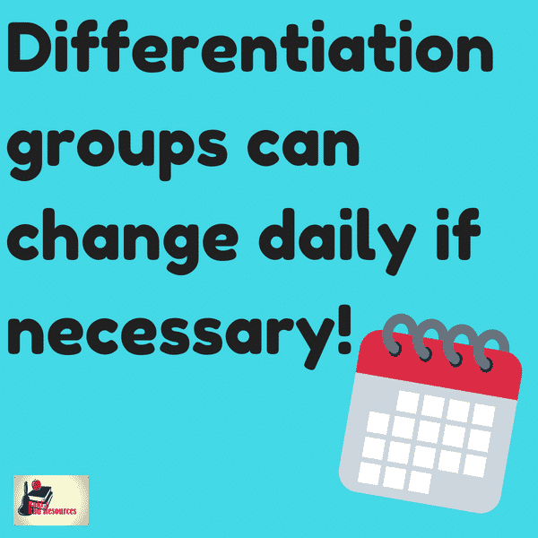 Differentiated instructional strategies - ad hoc differentiation groups