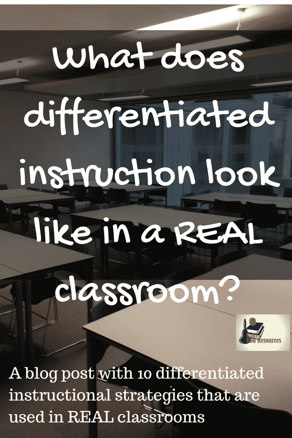 What does differentiated instructional strategies look like in a real classroom? A blog post from a real teacher on how to use differentiated instructional strategies.