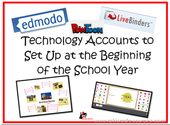 Technology Accounts to Set Up At the Beginning of the School Year - How to integrate technology into your classroom more easily by having technology accounts all ready for your students.