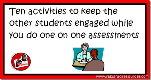 How to Keep Kids Engaged While You are Giving Assessments - Professional development post for elementary education from Raki's Rad Resources.