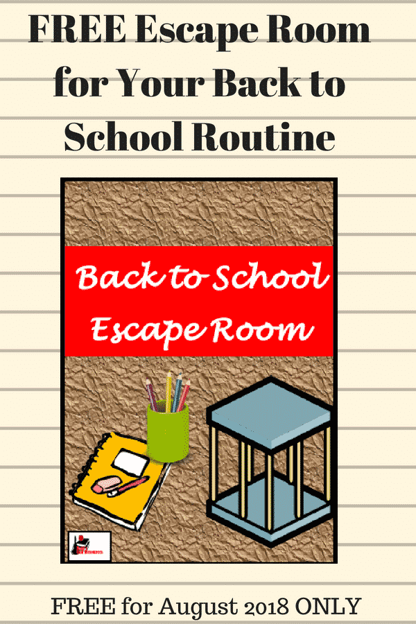 Free back to school escape room - for the month of August 2018 - great for reminding students about classroom procedures and routines.