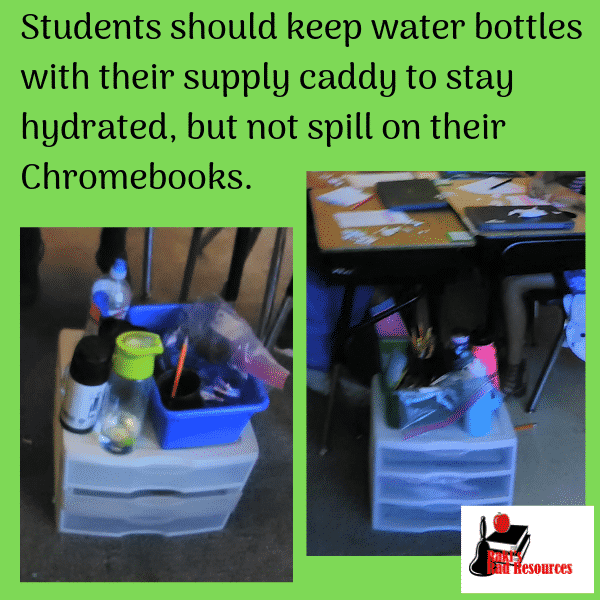 How to keep chromebooks in the classroom safe from water bottles
