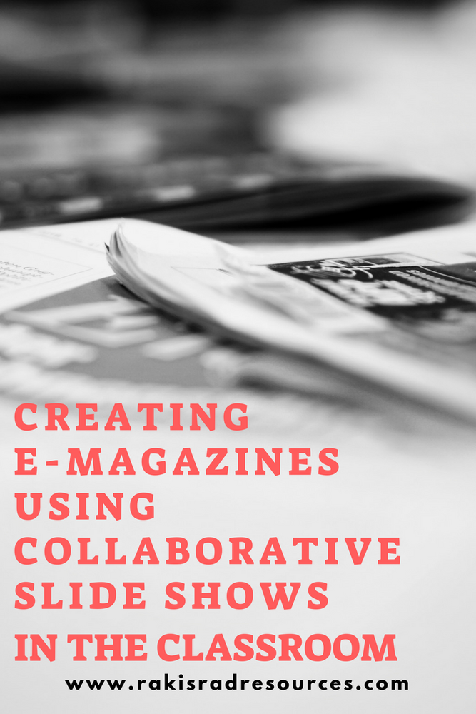 Creating collaborative slide shows in the classroom - for e-magazines