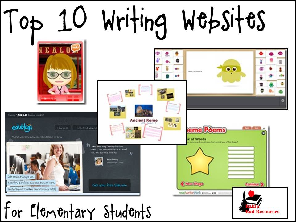 Top 10 Writing Websites for Elementary Education - These ten websites are great for incorporating teachnology into your writing lessons. This provides a great practice for writing based tests like PARCC. These websites are suggested by Raki's Rad Resources.