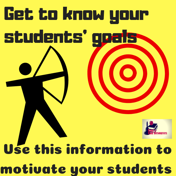 10 Ways to better know the needs of your students that go beyond beginning of the school year activities - learn about your students' long term goals and use those goals to motivate your students - professional development post from Raki's Rad Resources